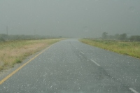 The hail storm we drove through before entering the park