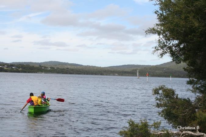 The kids enjoying the kayak in Walpole in 2010
