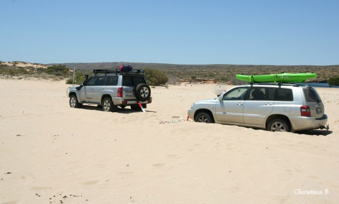Bogged in Yardie Creek