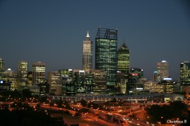 Perth city view from Kings Park