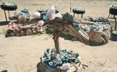 Crystals and stones for sale near Brandberg, Namibia