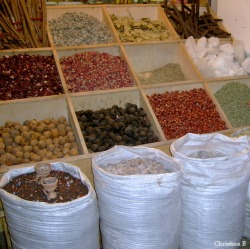 A tiny corner of one shop in the Spice Souk (Dubai)