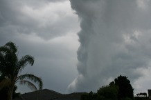 A summer storm rolling in over our house a few years ago