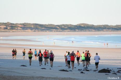 Start of the Broome Marathon on Cable Beach