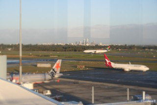 SA280 just after landing in Perth