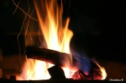 One of our camel thorn wood camp fires in Etosha, Namibia, on our last visit there