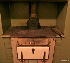 The old wood fire kitchen stove