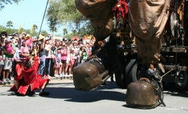 The Diver's Boots and the lilliputians or acrobats handling him