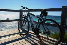 My trusty steed on one of my rides at the Parker Point lookout