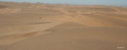 Sand dunes between Walvis Bay and Swakopmund, Namibia