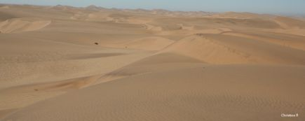 Sand dunes between Walvis Bay and Swakopmund, Namibia