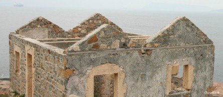 The walls of the Lighthouse Keeper's house at Point King, Albany, Western Australia that kept the inhabitants safe from the ocean.