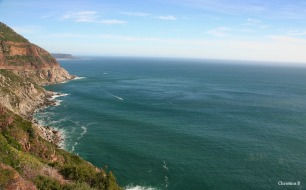 Land and sea division, Chapman's Peak, Cape Town, South Africa