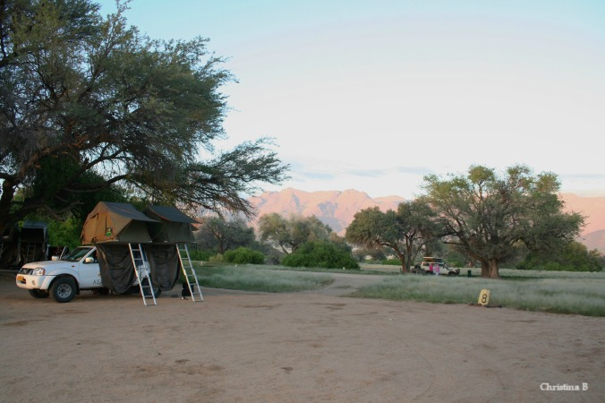 Early morning at Brandberg bush camp, Namibia. A blissful start to the day: drinking coffee and taking photos.