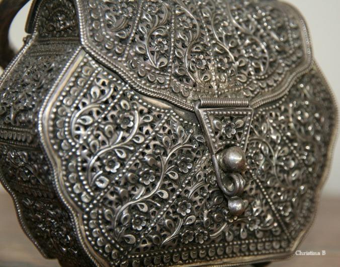 Antique Silver Omani clutch bag