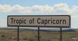 Tropic of Capricorn sign in the Namib desert, Namibia.