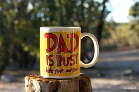 Probably my husband's favourite mug. Taken at Mount Trio bush camp, southwestern Australia.