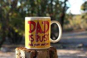 Probably my husband's favourite mug. Taken at Mount Trio bush camp, southwestern Australia.