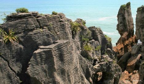 Pancake rocks at Punakaiki, South Island of New Zealand