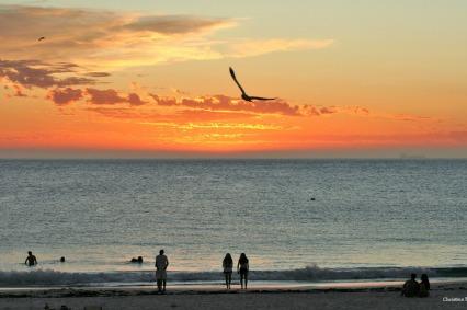 A warm evening at the beach