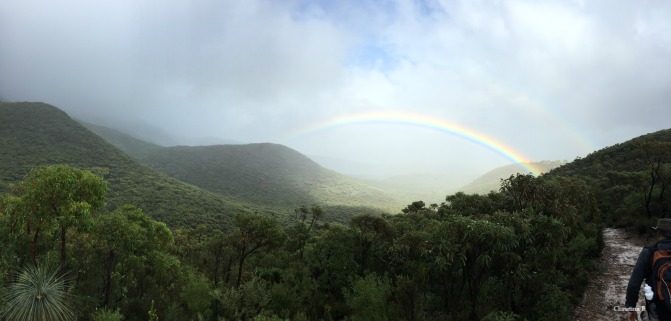 More rainbows (a double one this time) on our way down Bluff Knoll