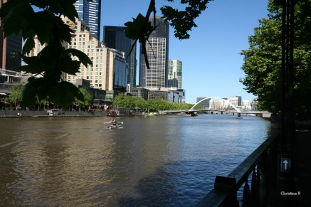 Yarra river and South Bank in Melbourne