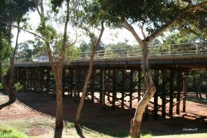 Beautiful old bridge over the Blackwood River in Bridgetown, WA