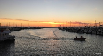 Hillarys Boat Harbour at sunset