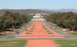 View towards Parliament House from the Australian War Memorial in Canberra