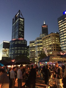 Perth during the Night Noodle Markets