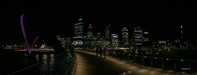 Panorama of Perth and Elizabeth Quay