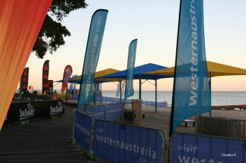 Early morning before the start of Ironman WA in Busselton