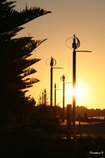 Busselton foreshore at the end of a long day at Ironman WA