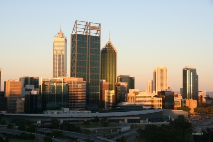 Perth at sunset (2012)