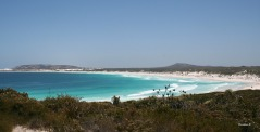 Hellfire Bay, Cape le Grande National Park where the sand is so fine and clean that it squeeks when you walk on it