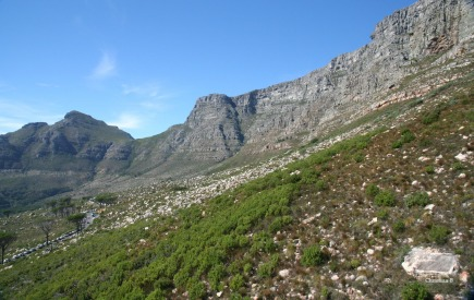 The front of Table Mountain, taken from the cable car