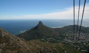 Lion's Head in Cape Town, taken from the cable car going up Table Mountain