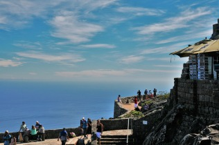 At the top of Table Mountain (the gift shop is to the right)