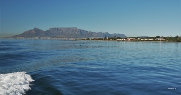 Table Mountain with Robben Island in the foreground