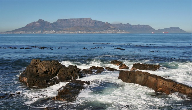 Table Mountain and Cape Town, taken from Robben Island