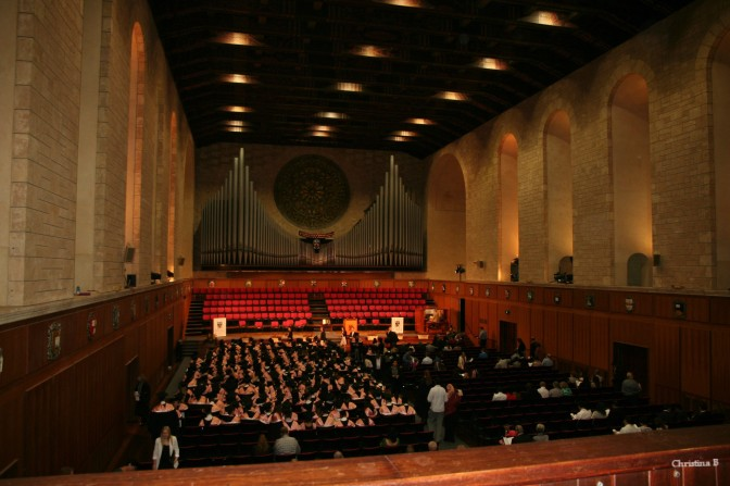 Winthrop Hall, University of Western Australia during Child No 1's graduation