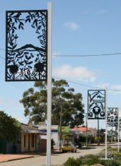 Art along the main street of Gnowangerup