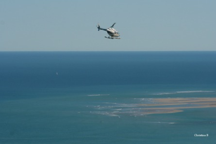 Going on a helicopter ride north of Broome