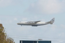 The Antonov 225 coming in to land at Perth airport