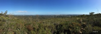 View towards Perth city and the coast